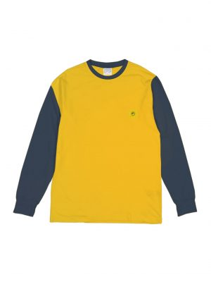 TWOTONE LS TEE YELLOW-NAVY