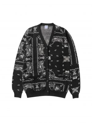 BANDANA CARDIGAN – BLACK