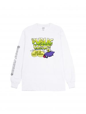 OUT OF WORLD LS TEE – WHITE