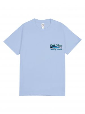 FISHING TEE – SOFT BLUE (FRONT)