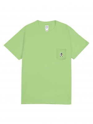 NO TRACE POCKET TEE – APPLE GREEN (FRONT)